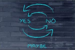 'Tidak' adalah Syarat untuk 'Ya'
